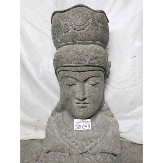 Balinese goddess natural stone outdoor jar statue 80 cm