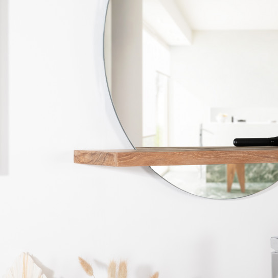 Bologna mirror with solid teak shelf