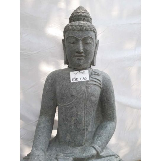 Buddha volcanic rock sculpture offering pose 1 m POOL