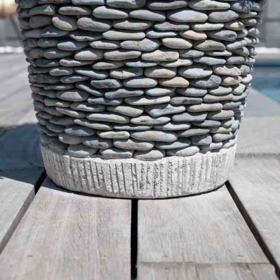 pebble conical planter for the garden 50 cm