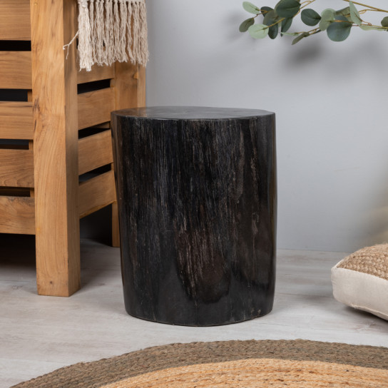Petrified wood pouffe 50 cm