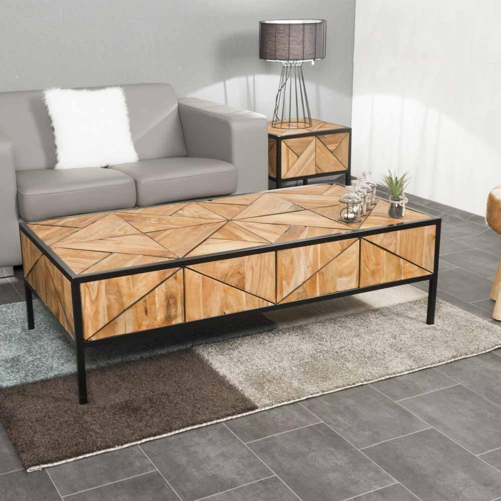 Teak coffee table : Rectangular coffee table, teak, 130 cm ...