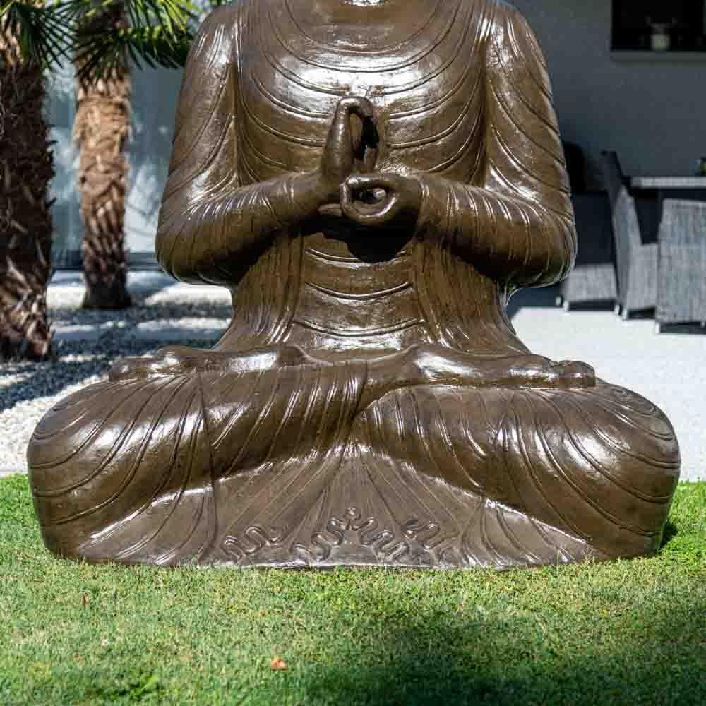 Buddha Seated Fibreglass Statue Chakra Pose H 2 M