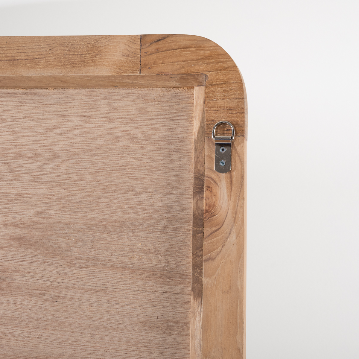 Teak Mirror Large Bathroom Mirror Retro 120 X 70 Cm