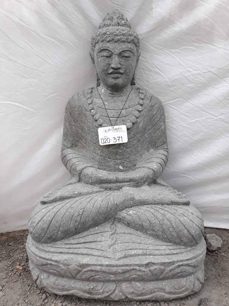 Seated Stone Buddha Outdoor Garden Statue Necklace 80 Cm
