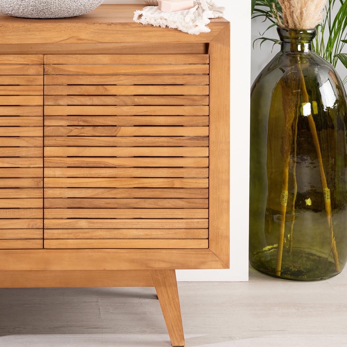 Solid wood (teak) vanity unit (single-sink) : Vintage ...