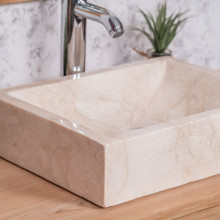 Alexandria rectangular cream countertop bathroom sink 30 cm x 40 cm